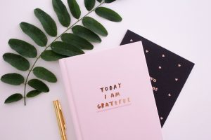 Keeping a journal to remind us of what we are grateful for is an excellent way to practise gratitude
